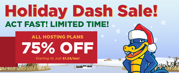 Hostgator Special Discount - Holiday Dash Sale Latest
