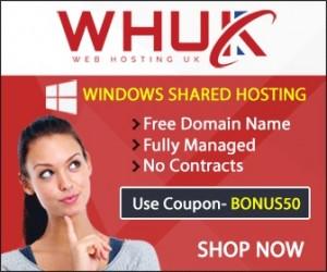 Web Hosting UK coupon code 50% Off all Managed Backup Plans Latest