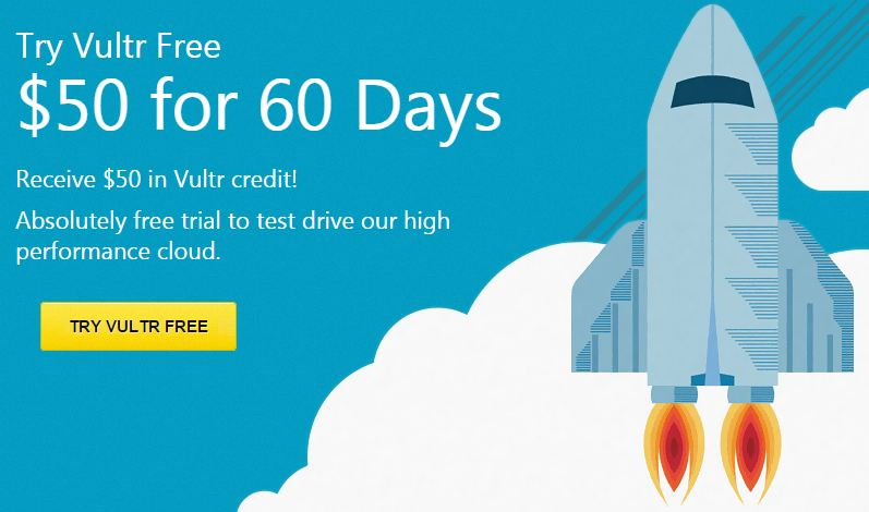 Vultr coupon free $50 for new account latest