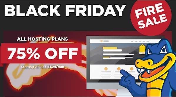Hostgator special discount 75% on Black Friday 2014
