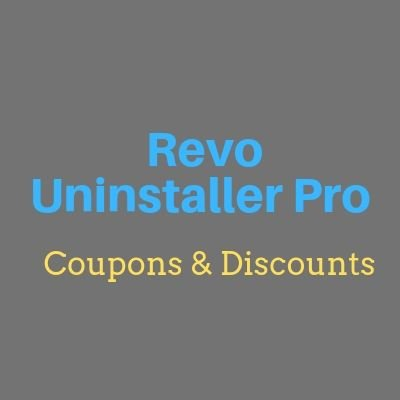 Revo Uninstaller Pro coupons