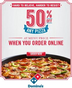 Domino's Coupons Upto 50 % OFF [Updated March 2020]