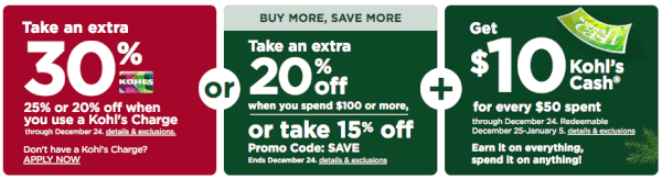 Kohls Charge Card Coupon Codes