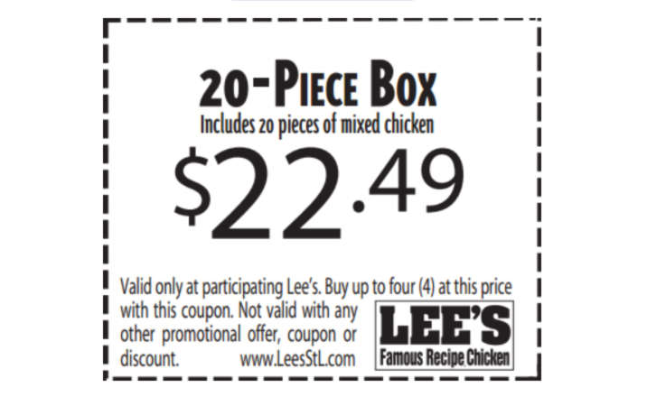 Lees Chicken Recipe Offer
