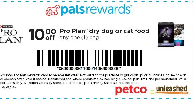 Purina Pro Plan Coupons