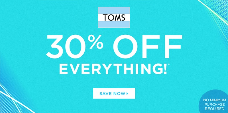 Toms coupons 35 Off